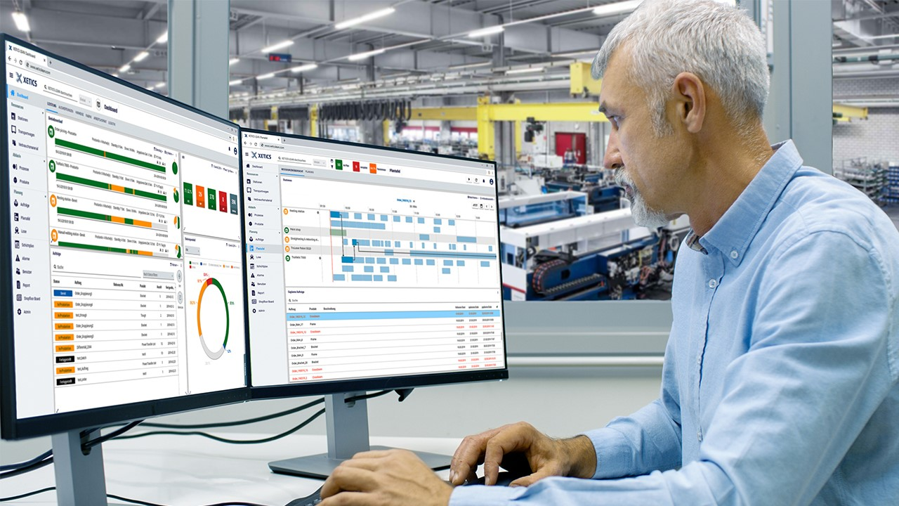 Comprehensive analysis during and after production with freely configurable management board