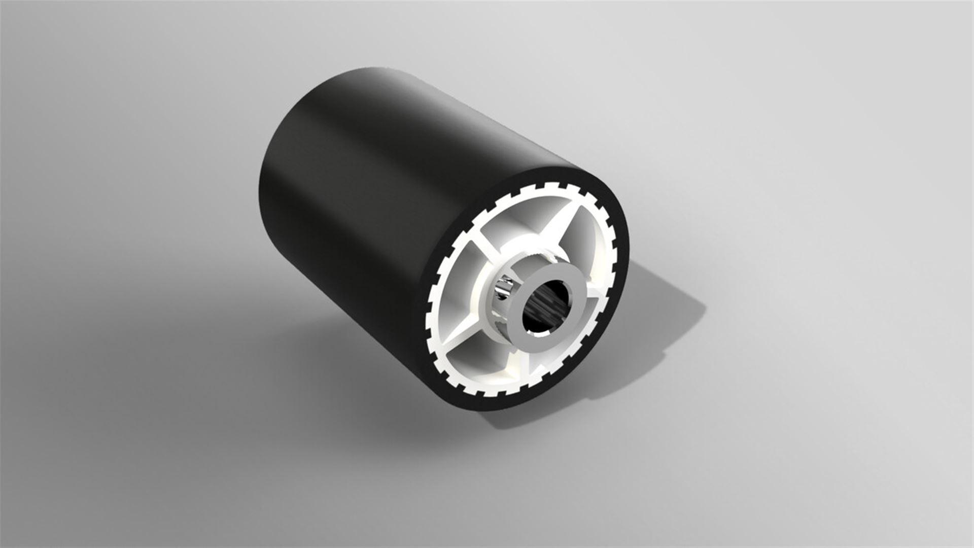 Druckrolle für Förderbänder