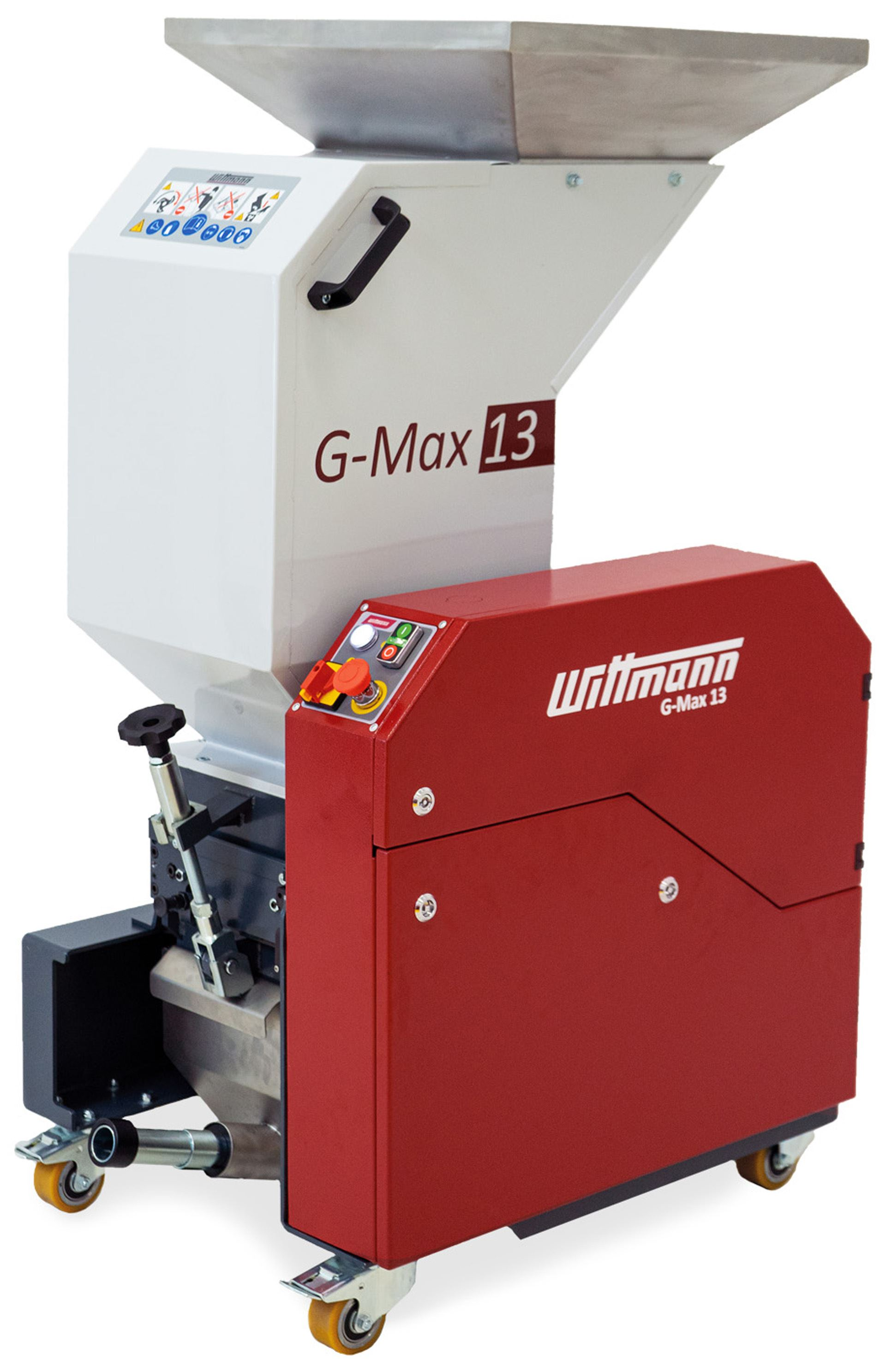 G-Max 13 beside-the-press granulator