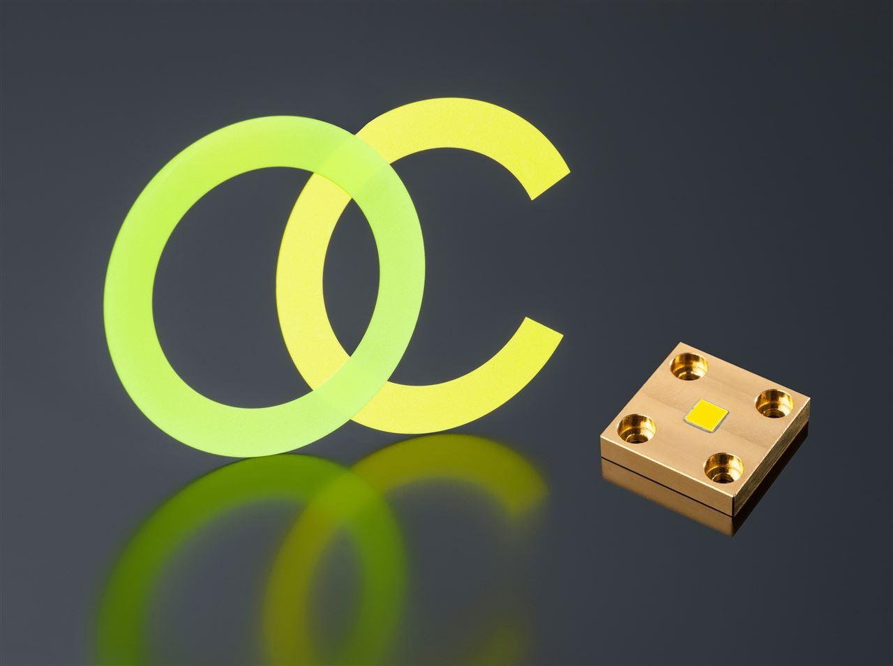 Keramische Laser-Phosphor-Konverter für hohe Leuchtdichte