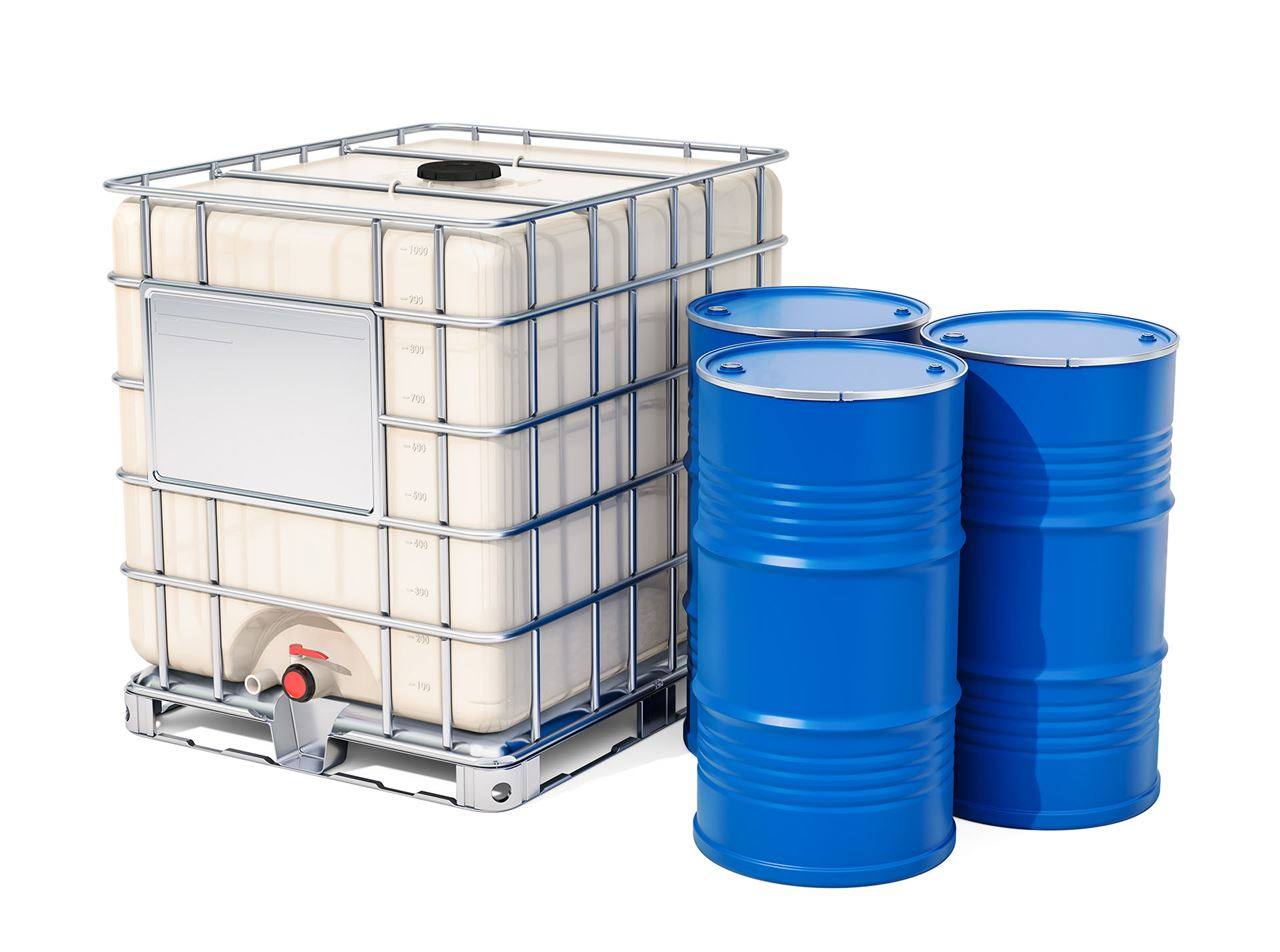 Leak test of large and small volume containers in the production process