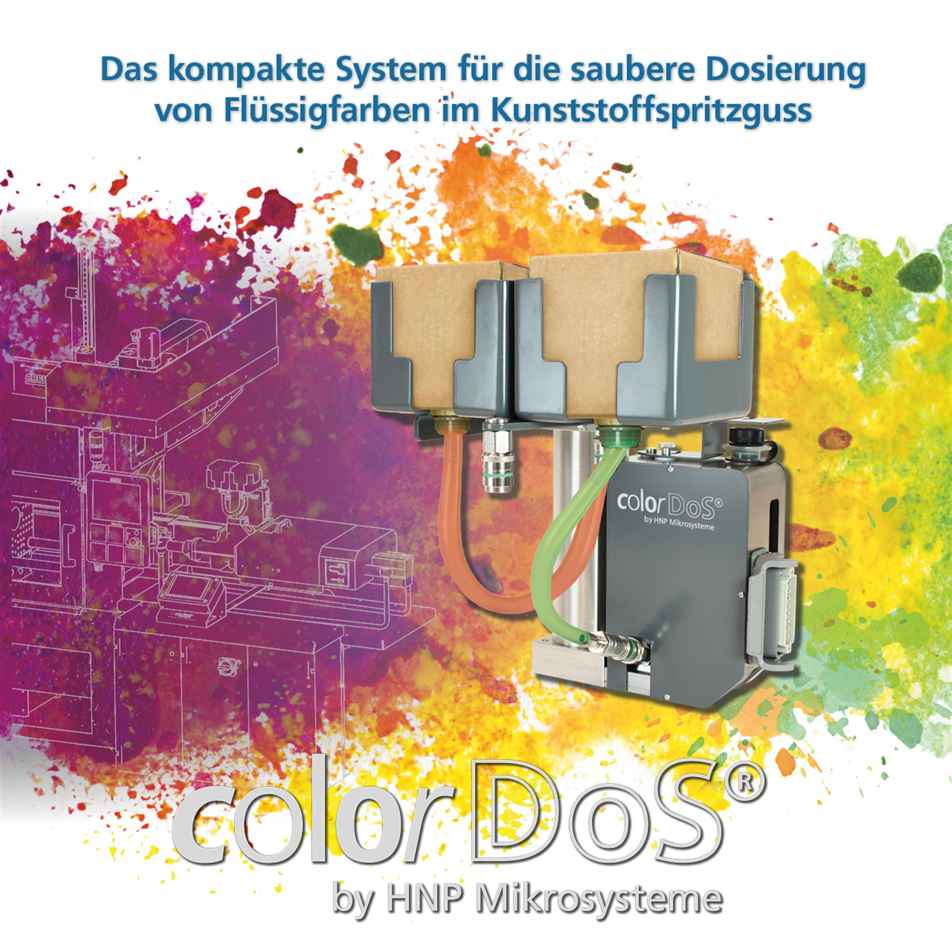 colorDoS- the compact system for clean dosing of liquid colors in plastic injection molding