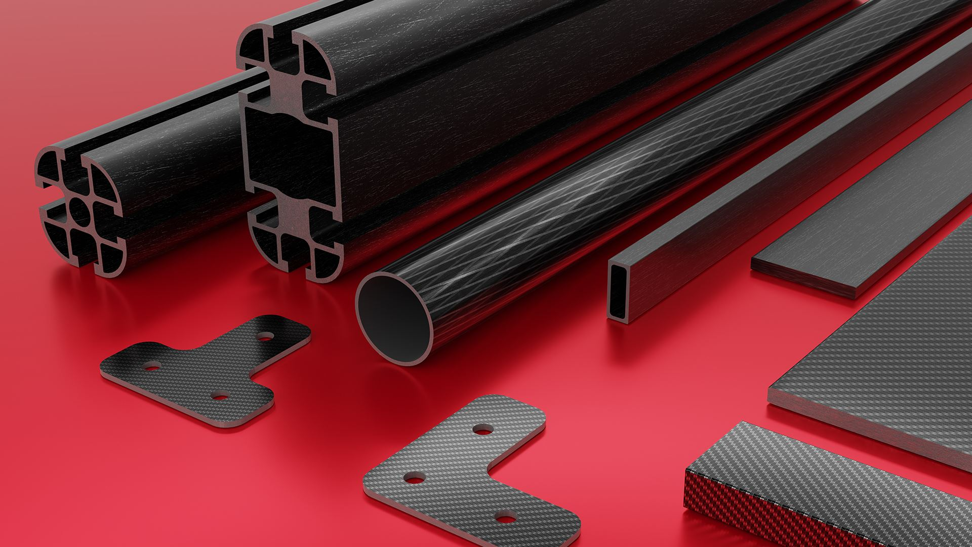 Carbon profiles and accessories