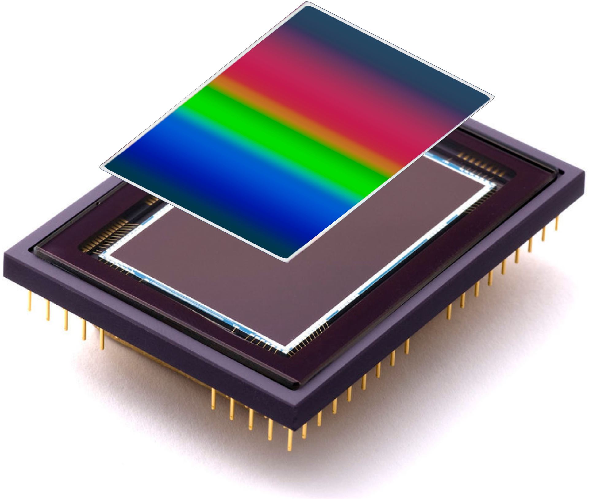 Continuously Variable Bandpass Filters for Hyperspectral Imaging