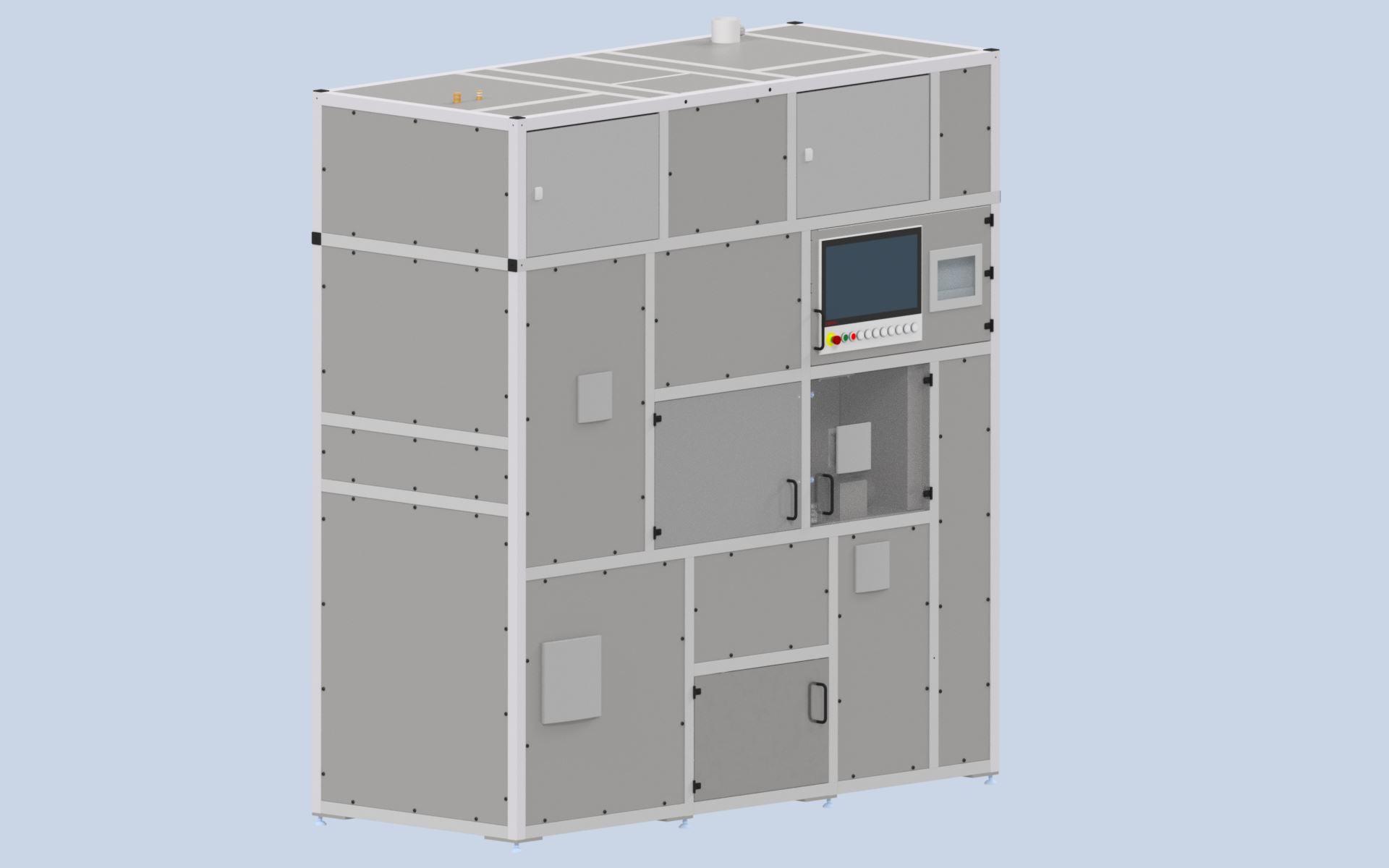 Entwicklte Demonstrationsanlage für das Glasätzen mit Salzschmelzen