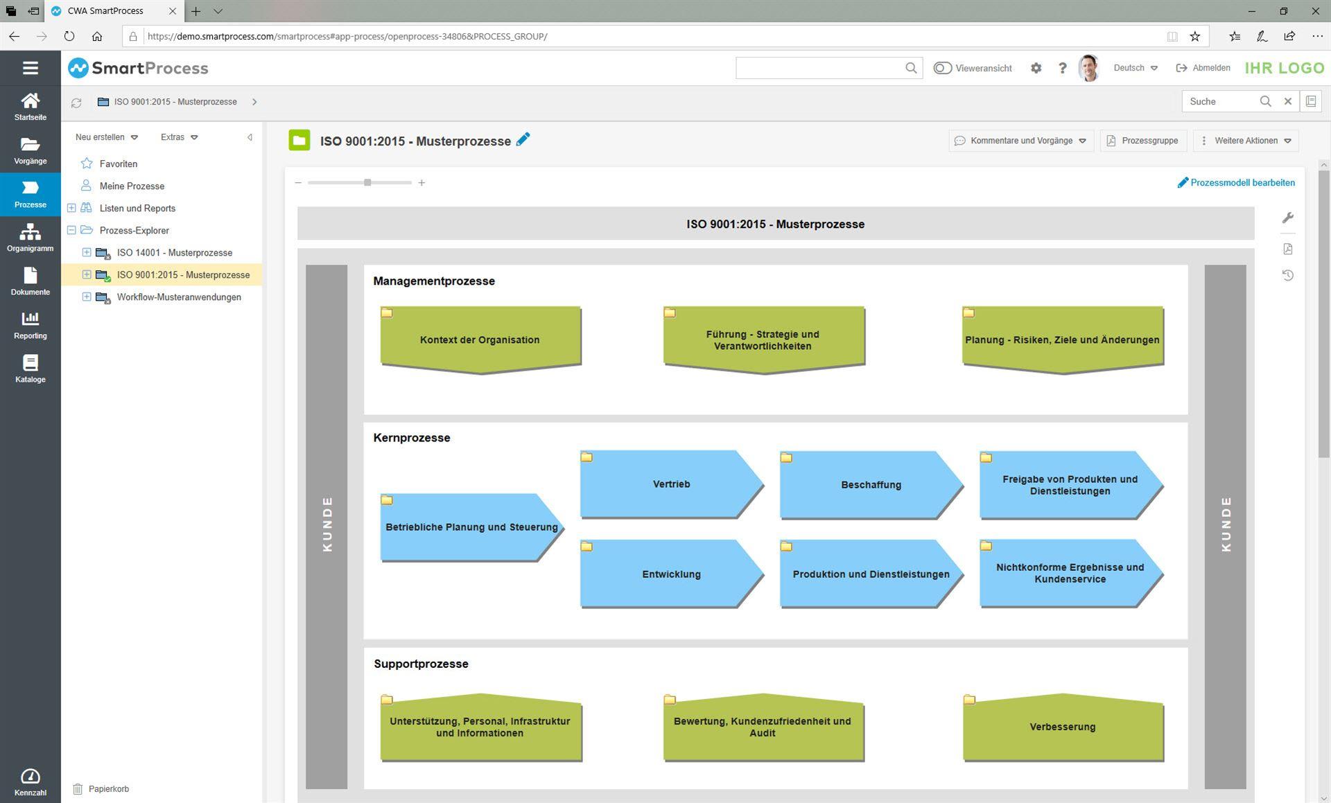 SmartProcess QMS Software BPMN