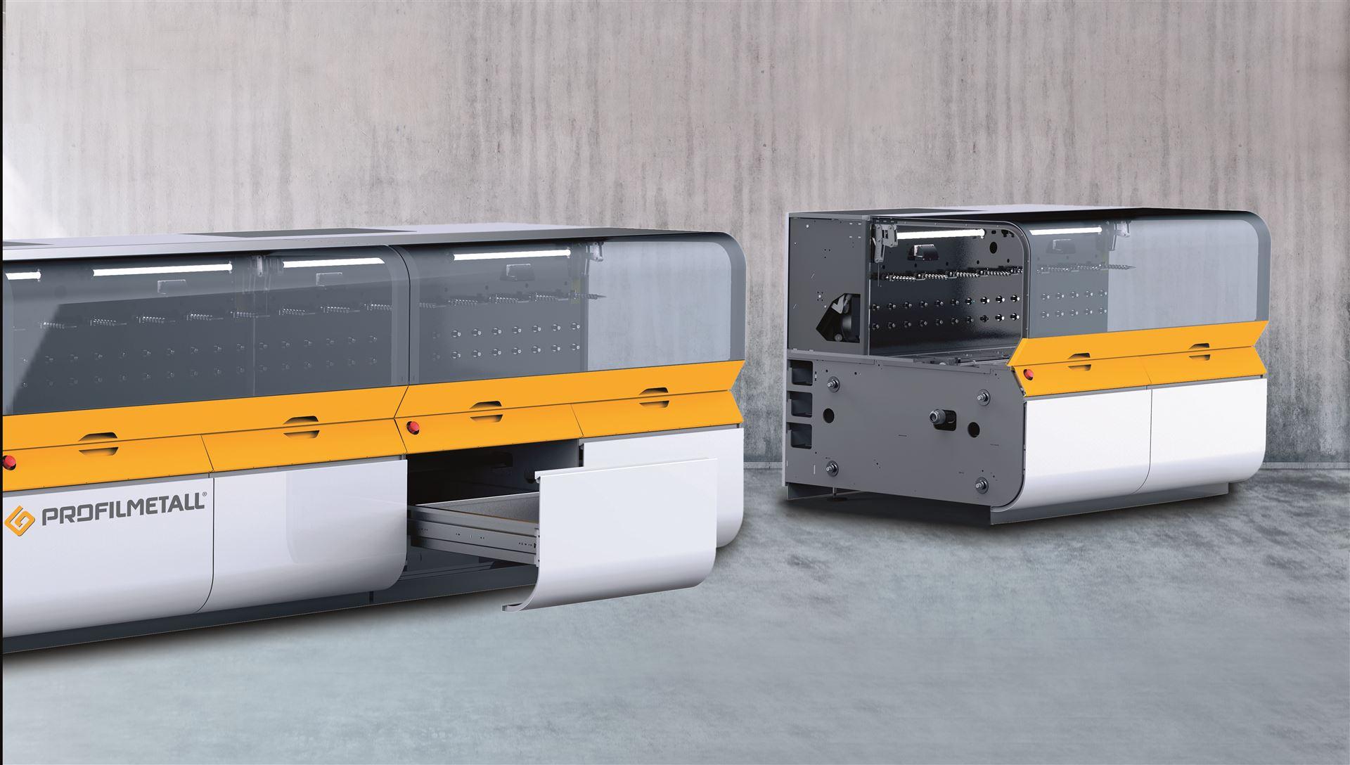 Modulare und hocheffiziente XELLAR-Fertigungszellen zum rollformen, stanzen, schweißen, trennen