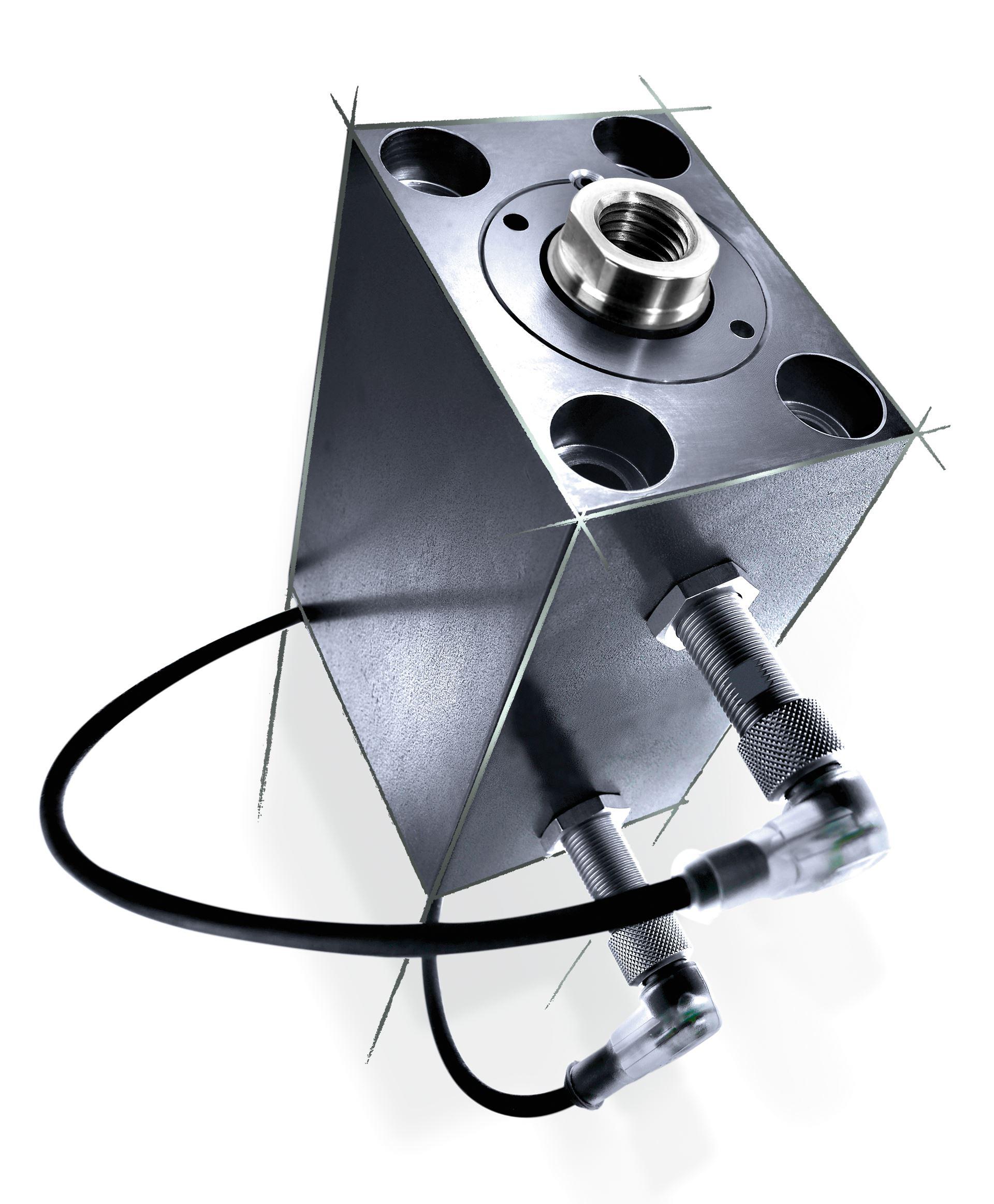 Blockzylinder mit intelligenten induktiven Näherungsschalter (BZN)