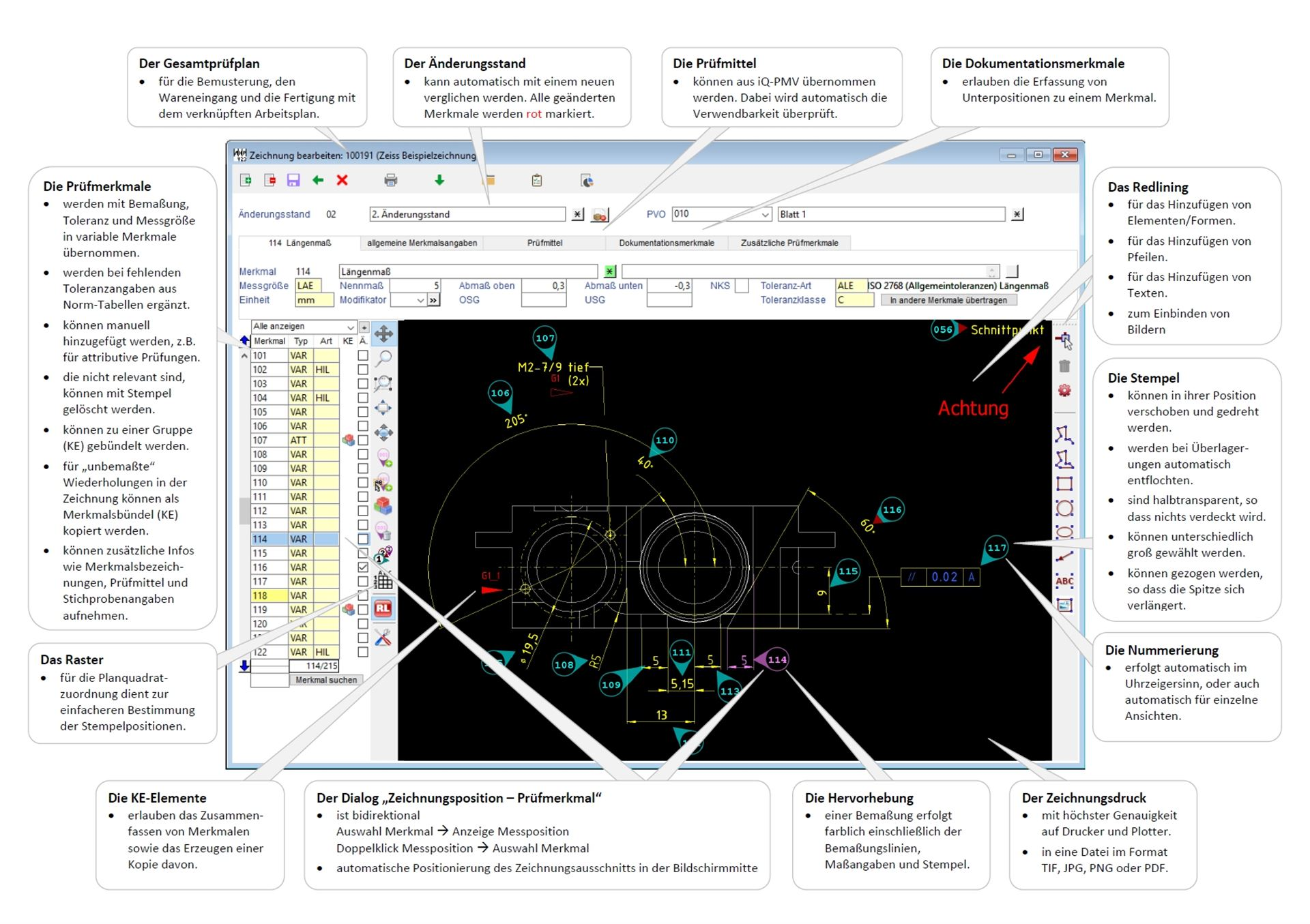 From automatic stamping of drawings to inspection planning