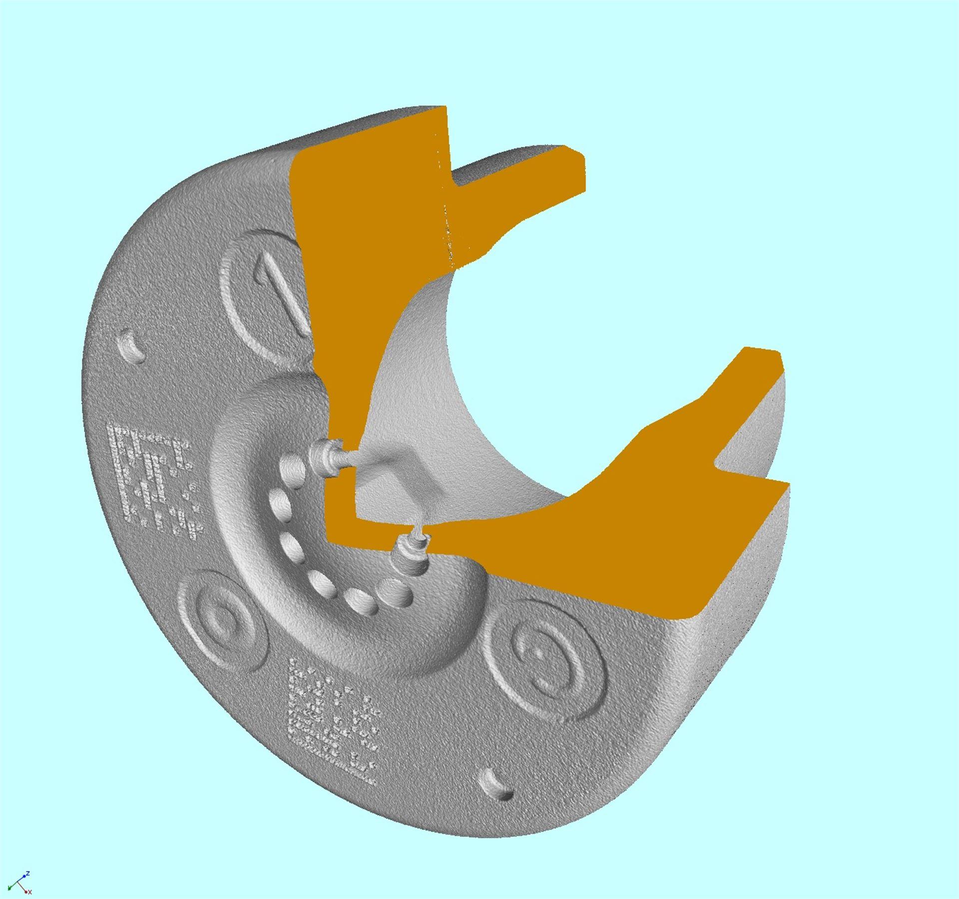 5 mm großes, mit Computertomografie gestützter Koordinatenmesstechnik gemessenes Werkstück