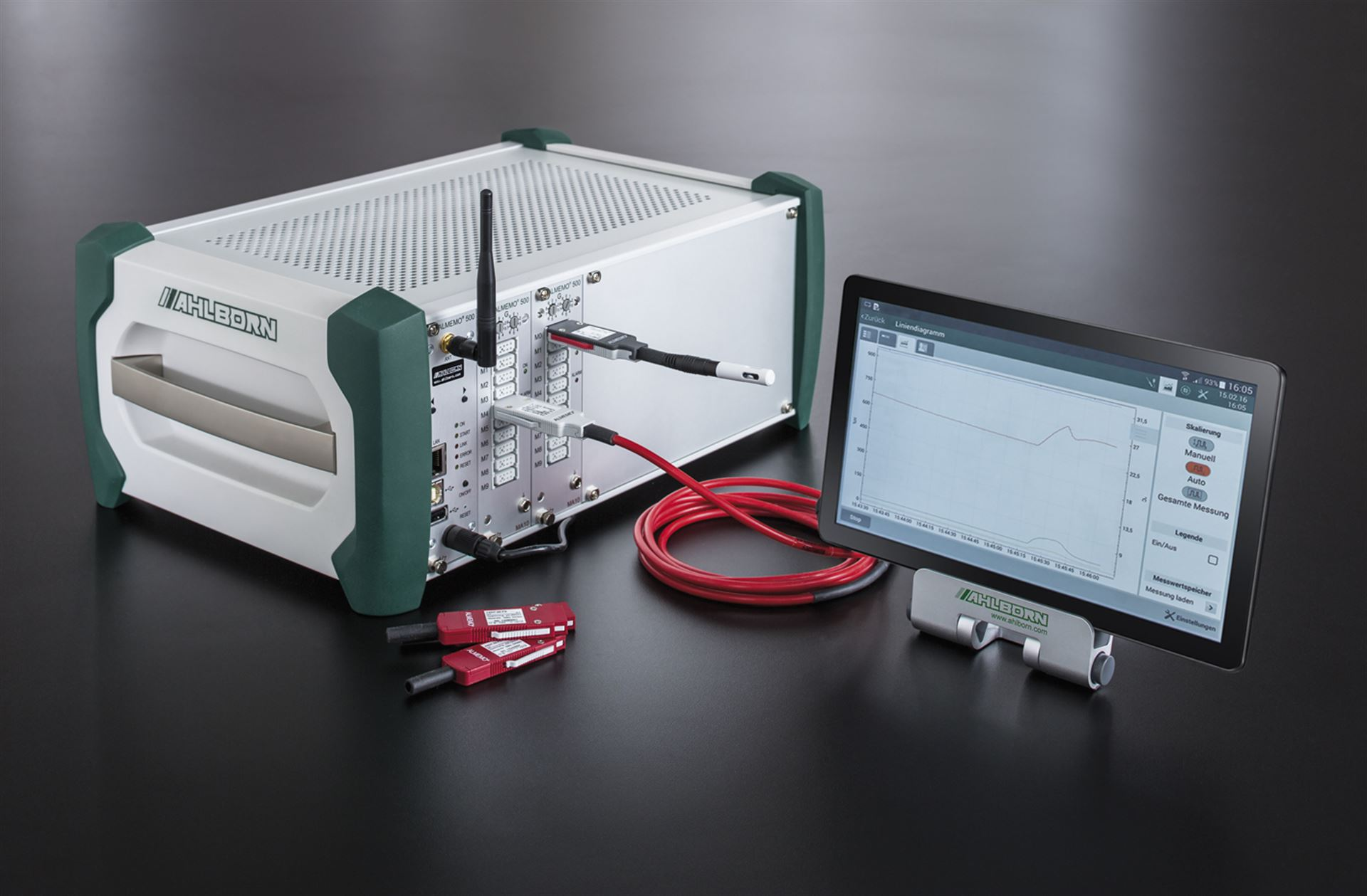 Professional measurement data acquisition with the data logger ALMEMO® 500