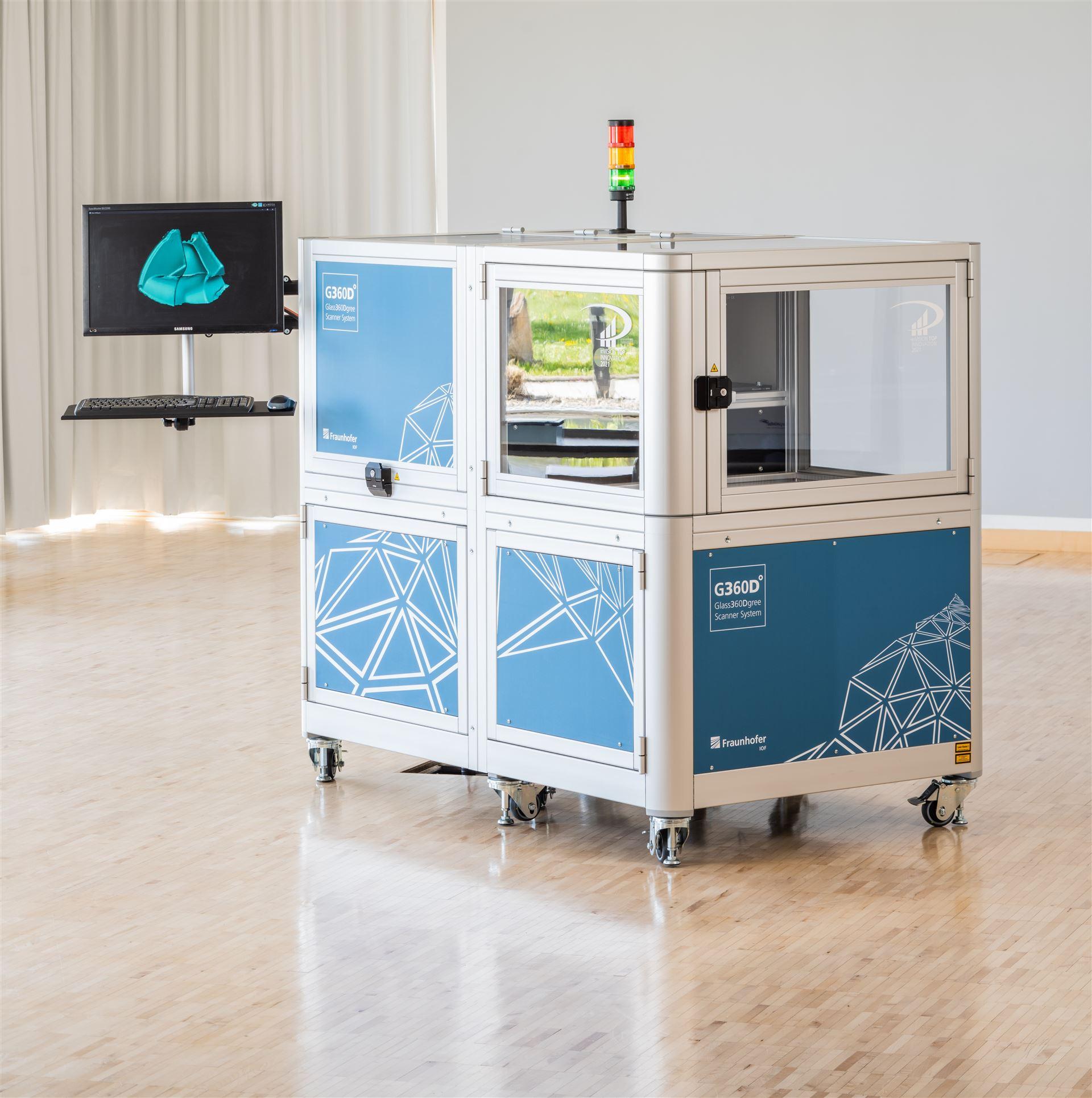 Rundum-3D-Formvermessung transparenter Objekte mit thermischer Streifenprojektion